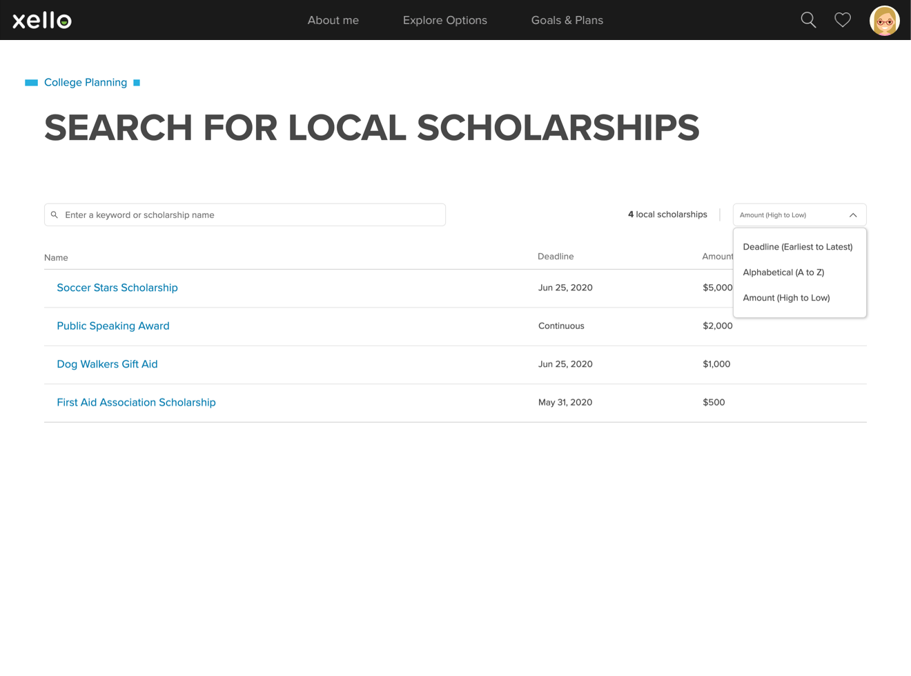 Local Scholarship search