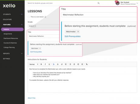 Prerequisites for Custom Lessons